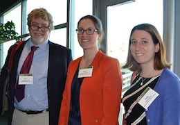 Gery Ryan and students Claire O'Hanlon and Emily Haskell, photo courtesy of UC Riverside