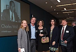 Pardee RAND staff and alumni at the Charles Wolf memorial service