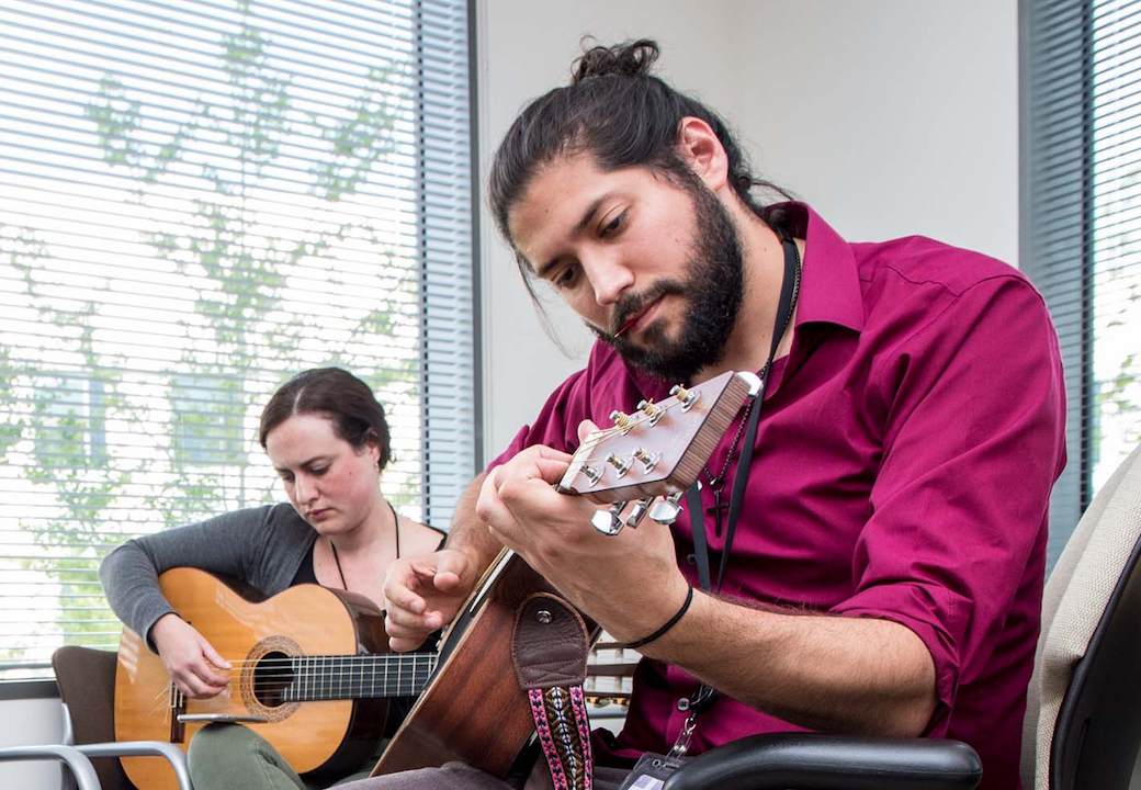 Students rock out during Mental Health Awareness Week
