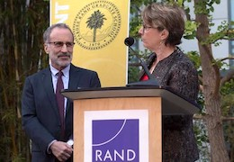 Dean Marquis and Jeffrey Wasserman at a Pardee RAND Commencement