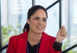 Soledad O'Brien at a Pardee RAND Board of Governors meeting