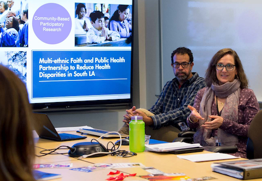 Kathryn Derose leads class in discussion of community engagement, photo by Diane Baldwin/RAND Corporation