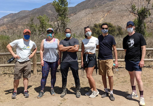 Phil Armour and students hiked Zuma Canyon