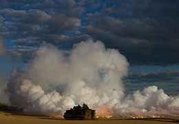 Lithuanian Land Forces fire a smoke screen from an M113A1 Armored Personnel Carrier during a joint exercise with their American partners in Rukla, Lithuania, May 22, 2015, photo by Sgt. James Avery/U.S. Army