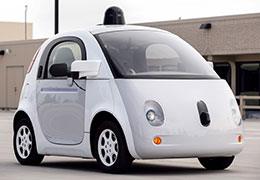 A prototype of Google's self-driving vehicle, photo by Elijah Nouvelage/Reuters