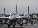 18-ship F-16 Fighting Falcon elephant walk
