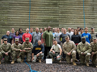 Civilians and noncommissioned officers participate in the 2017 U.S. Army Research Laboratory Greening Course