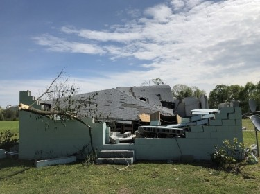 Damage caused by a tornado in Charles City, Virginia, on April 19, 2019. Photo by National Weather Service