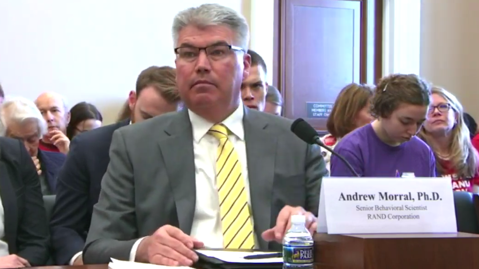 Andrew Morral testifies before the Congressional subcommittee.