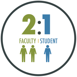 We have more than 200 teaching and mentoring faculty members who work with our students.