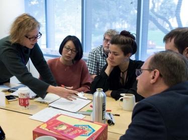 Ann Pendleton-Jullian teaching a first-year studio class at the Pardee RAND Graduate School