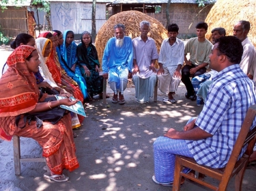 Bangladesh village meeting
