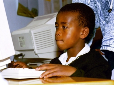 IT training for kids who live in the surrounding farm areas of Stutterheim outside East London in the Eastern Cape