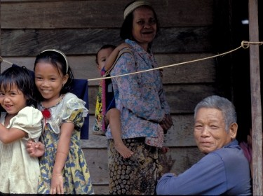 Southeast Asian rural family
