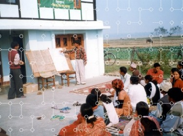 Agricultural extension meeting in Nepal, 2002