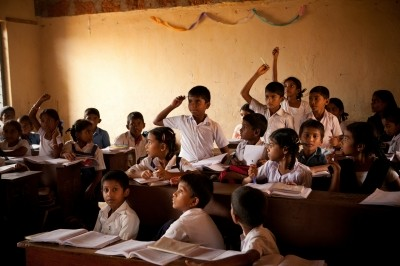 Students in an Indian school