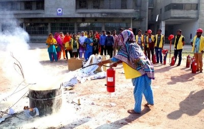 USAID supported a fire safety class for garment workers in Bangladesh