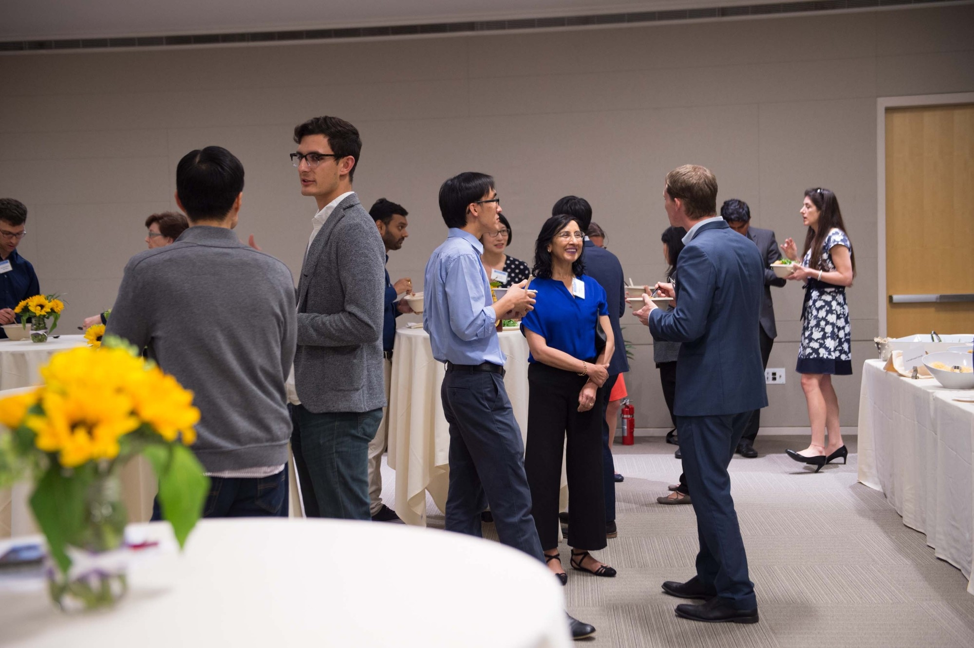 Blockchain talk and chili reception, photo by Diane Baldwin/RAND Corporation, p201904_02, event, panel, dinner