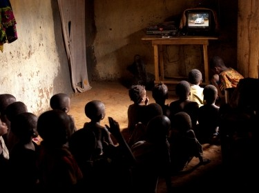 Children in Benin watching TV, photo by by Arne Hoel, World Bank Photo Collection/CC BY-NC-ND 2.0, Agriculture Fishing and Forestry, Development, agriculture, food, processing