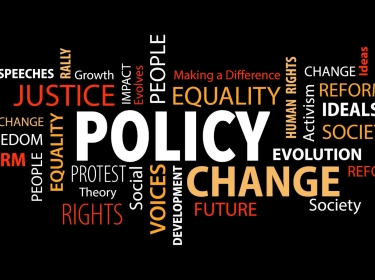 Social justice policy word cloud, adapted from illustration by JJAVA/Adobe Stock