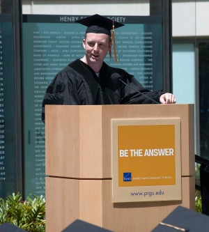 Pardee RAND graduate Jack Clift speaks at 2014 Commencement