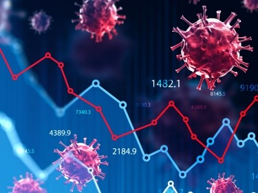 Coronavirus and financial stock market crisis, illustration by denisismagilov/Adobe Stock