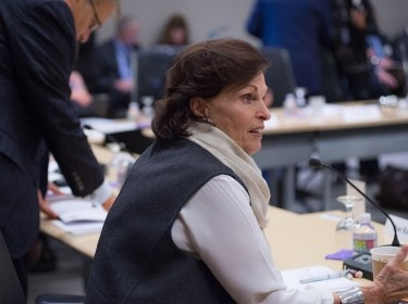 Ann Korologos at a RAND Board of Trustees meeting at RAND's Santa Monica Headquarters in November 2015, photo by Diane Baldwin/RAND Corporation