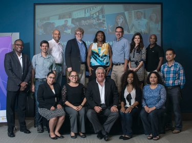 """Pedro """"Joe"""" Greer and participants of the 2015 Pardee RAND Summer Faculty Workshop in Policy Analysis"""