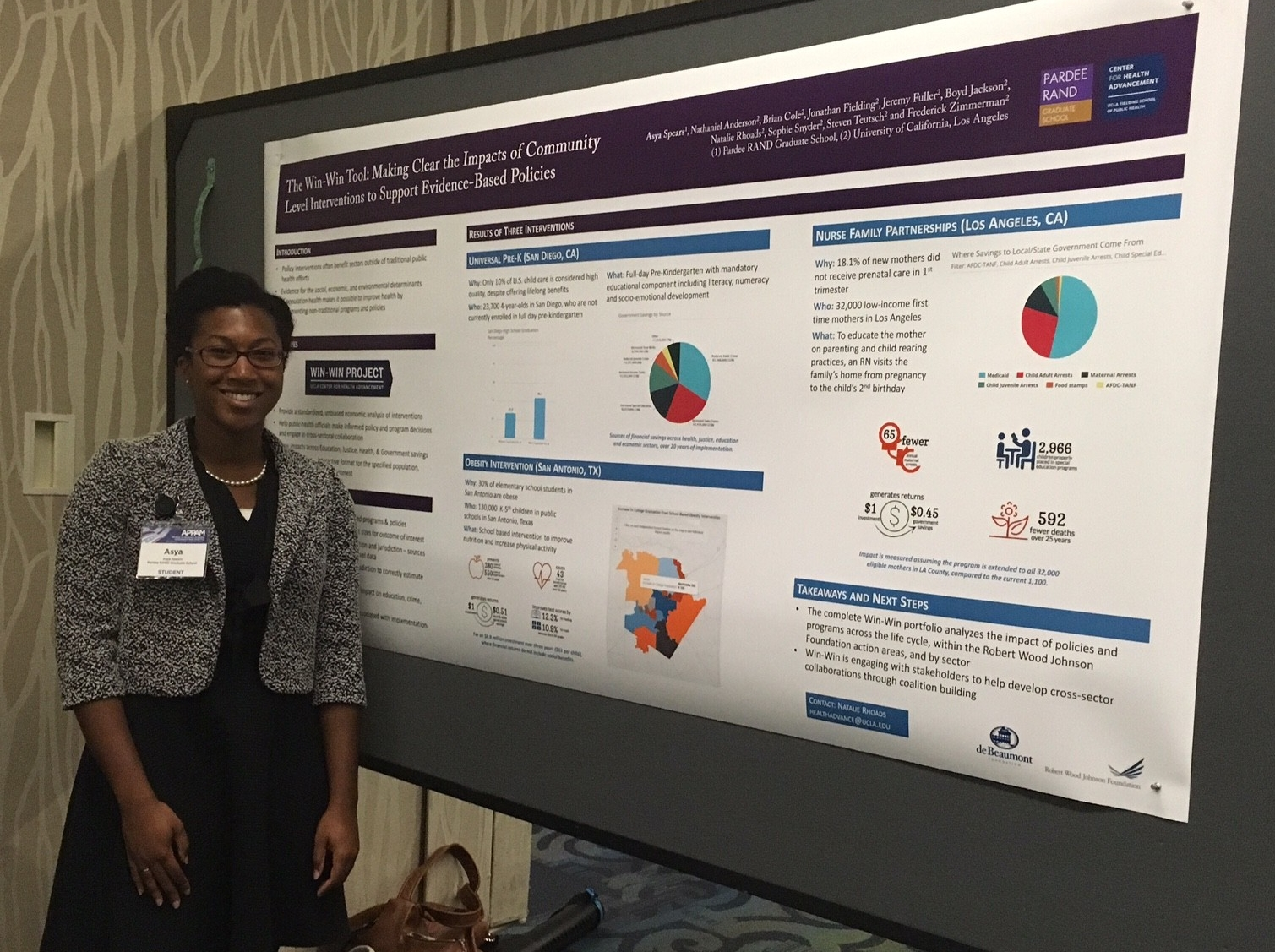 Asya Spears presents poster at APPAM '16