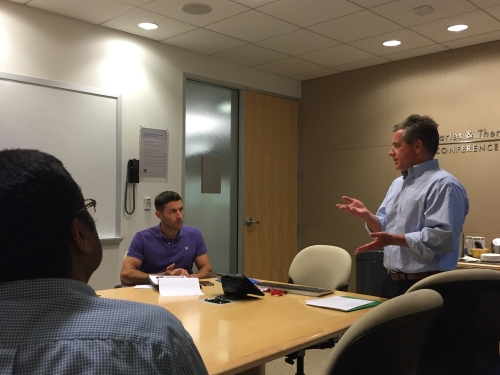 Brent Fulton speaks with Pardee RAND students