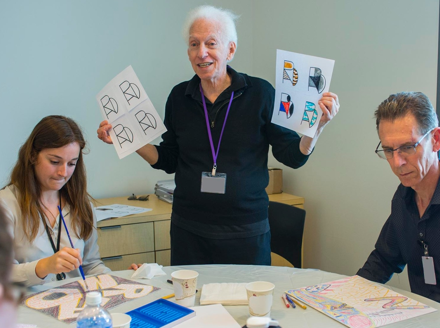 Phillip Ratner leads a creative workshop