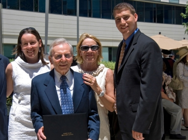 Frank Carlucci, with daughter, Kristin Weed, wife, Marcia, and son-in-law, Joshua Weed