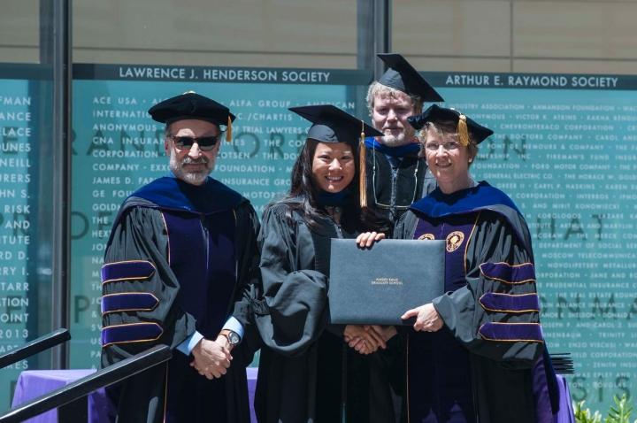 p201406_07d, event, commencement, diplomas, prgs, graduation, jeffrey wasserman, helen wu, gery ryan, susan marquis
