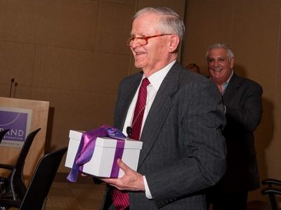 Frederick S. Pardee being thanked for his gift to RAND