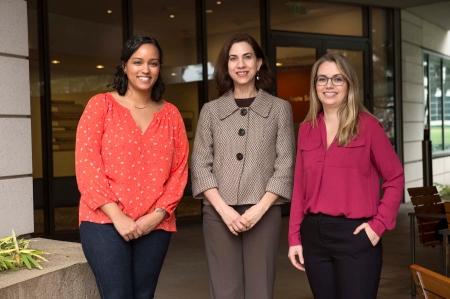 Rachel Perera, Rachel Swanger, and Lauren Davis