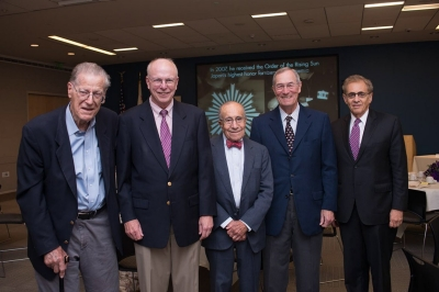 Charles Wolf with current and former RAND presidents