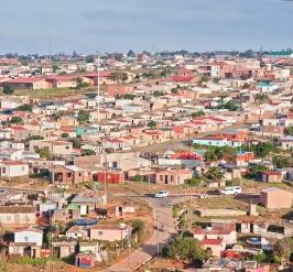 Dense population of homes