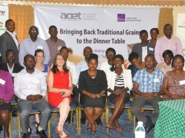 Attendees of the Traditional Grains stakeholders workshop in Kampala, Uganda, on August 18, 2015
