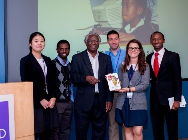 Calestous Juma and student organizers of the International Development Speaker Series