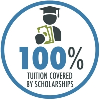 100% of tuition is covered by scholarships