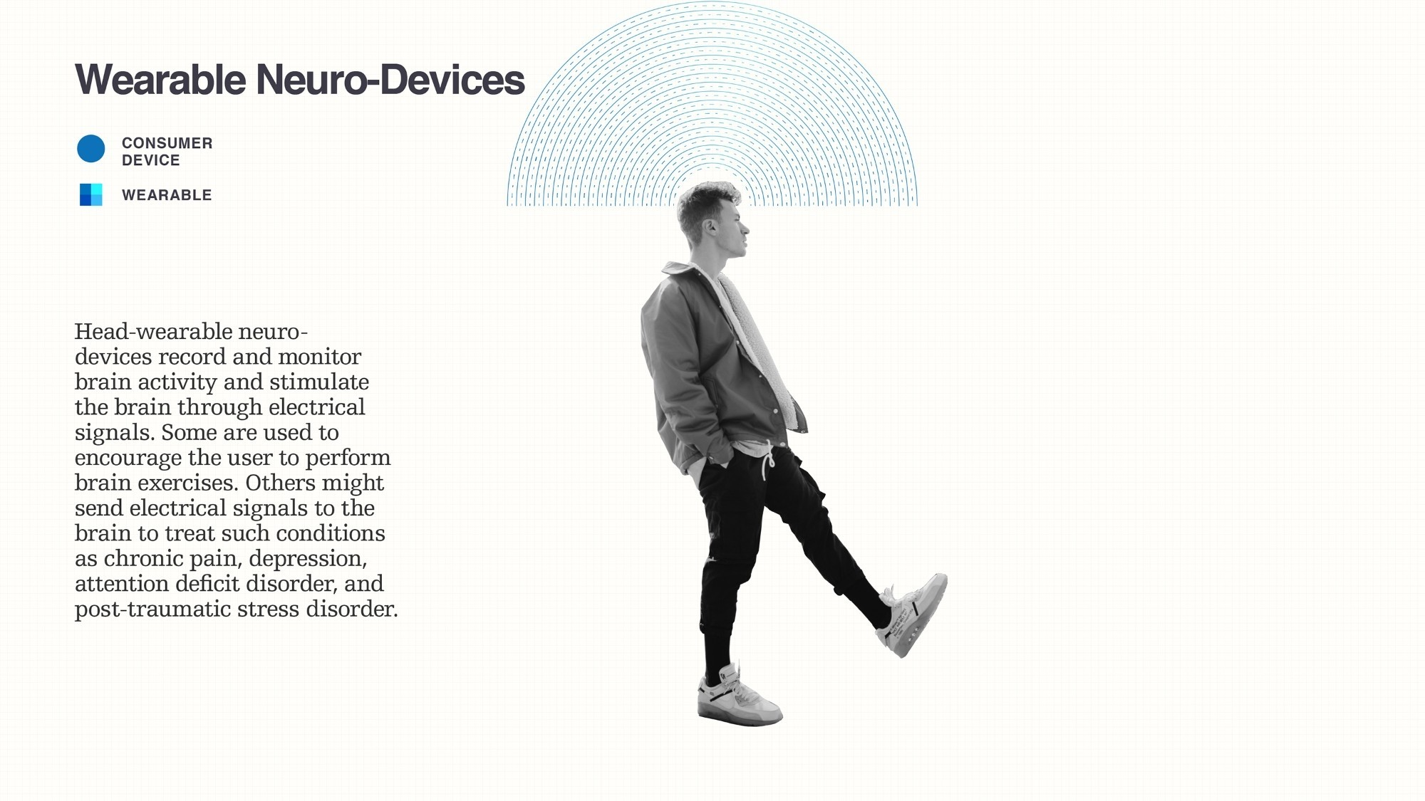Data visualization illustrating wearable neuro-devices by Gioriga Lupi.