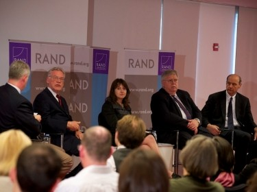 Panelists at RAND Alumni Association (RAA) event on June 5, 2014