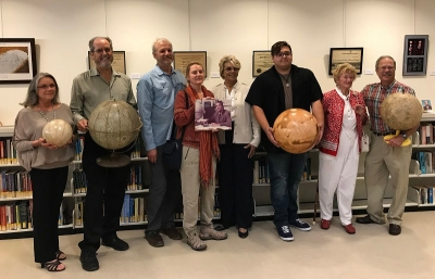 The Davies family at a reception for the exhibition in RAND's Santa Monica library on October 19, 2017​