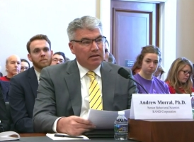 Andrew Morral testifying before the House Appropriations Subcommittee on Labor, Health and Human Services, Education, and Related Agencies on March 7, 2019.