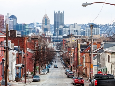 A street in Pittsburgh, Pennsylvania, photo by peeterv/Getty Images