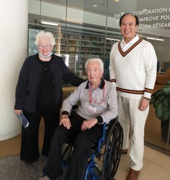 Natalie Crawford, Johan Lau, and his son, Emil