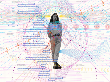 A visual showing how Internet of Bodies technologies may surround and influence us in the future, illustration by Giorgia Lupi