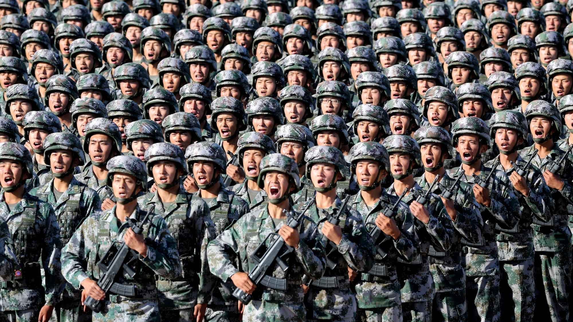 Soldiers of China's People's Liberation Army at Zhurihe military training base in Inner Mongolia Autonomous Region, China, July 30, 2017, photo by ChinaMil.com