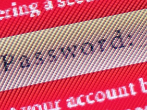 Computer password screen