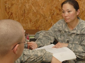 Behavioral health officer, photo by U.S. Army